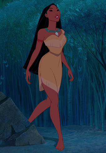 Pocahontas-hahmodesign